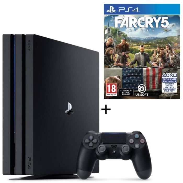 Pack PS4 Pro Noire 1 To + Far Cry 5 Jeu PS4