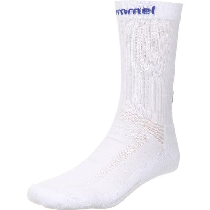 HUMMEL Chaussettes de Handball Authentic Indoor - Homme - Blanc et Bleu Roi