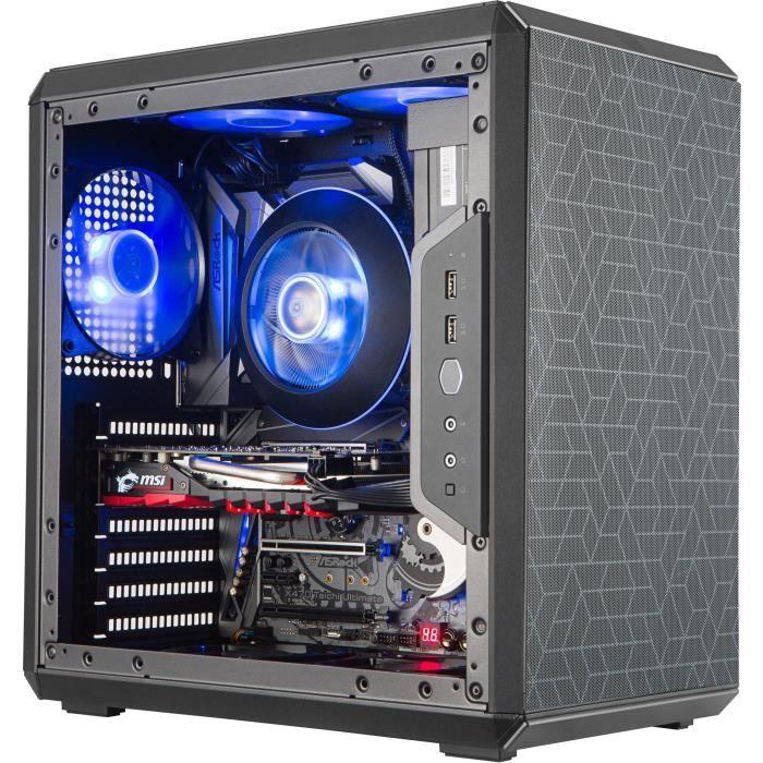 COOLER MASTER Q500L Boîtier PC Gaming (ATX, 1xFenêtre, 2xFiltres Magnétiques) - Noir
