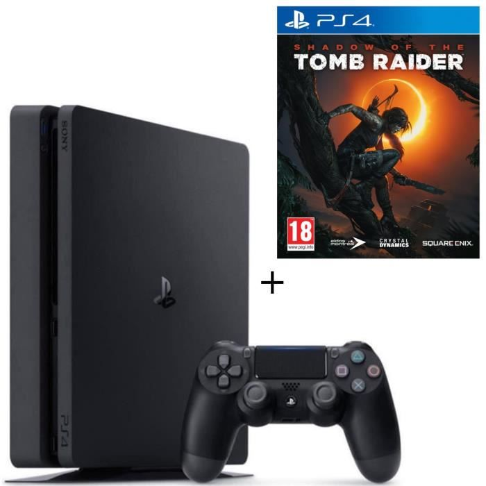 Pack PS4 500 Go Noire + Shadow of the Tomb Raider