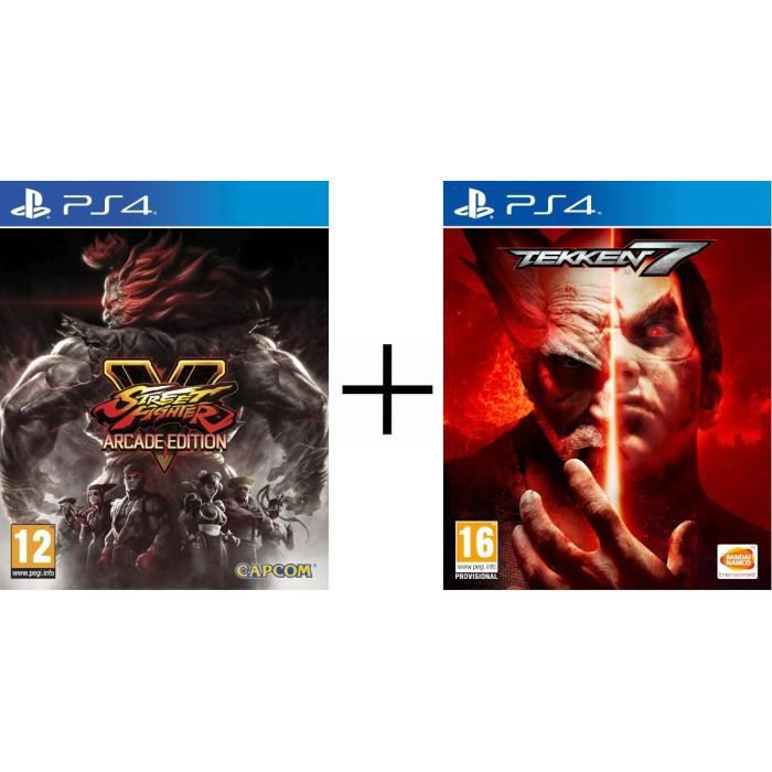 Pack 2 jeux PS4 : Street Fighter V Edition Arcade + Tekken 7