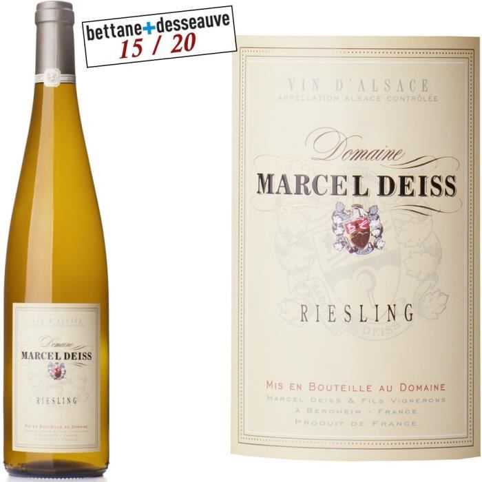 Domaine DEISS 2015 Riesling - Vin blanc d'Alsace