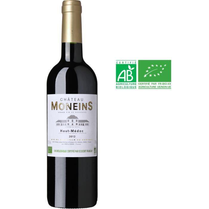 Château Moneins 2012 Haut Médoc - Vin rouge de Bordeaux - Bio