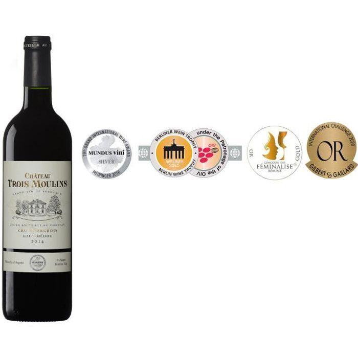 Château Trois Moulins 2014 Haut-Médoc Cru Bourgeois - Vin rouge de Bordeaux
