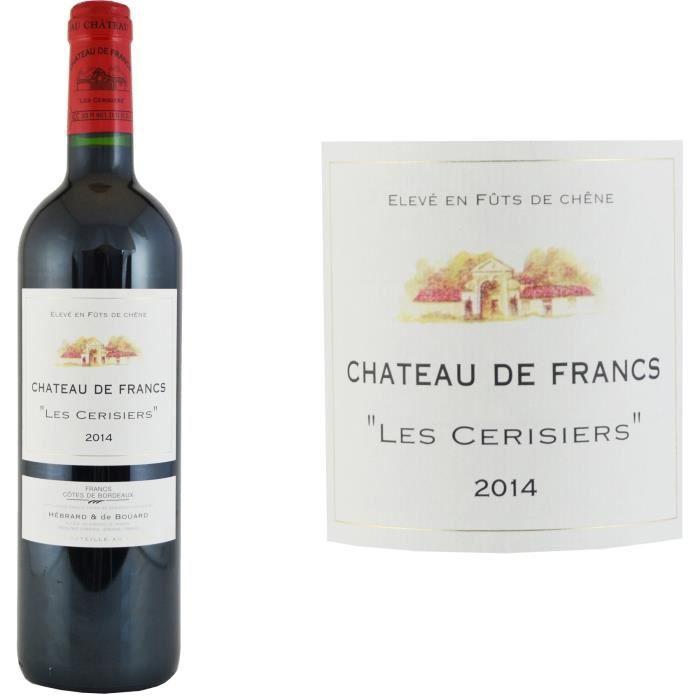 Château Francs Les Cerisiers 2014 Bordeaux - Vin rouge de Bordeaux