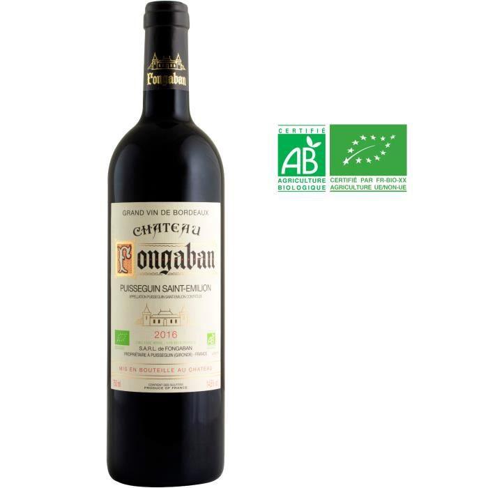 Château Fongaban 2016 Puisseguin-Saint-Emilion - Vin rouge de Bordeaux - Bio