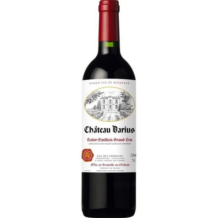 Château Darius 2016 Saint Emilion Grand Cru - Vin rouge de Bordeaux
