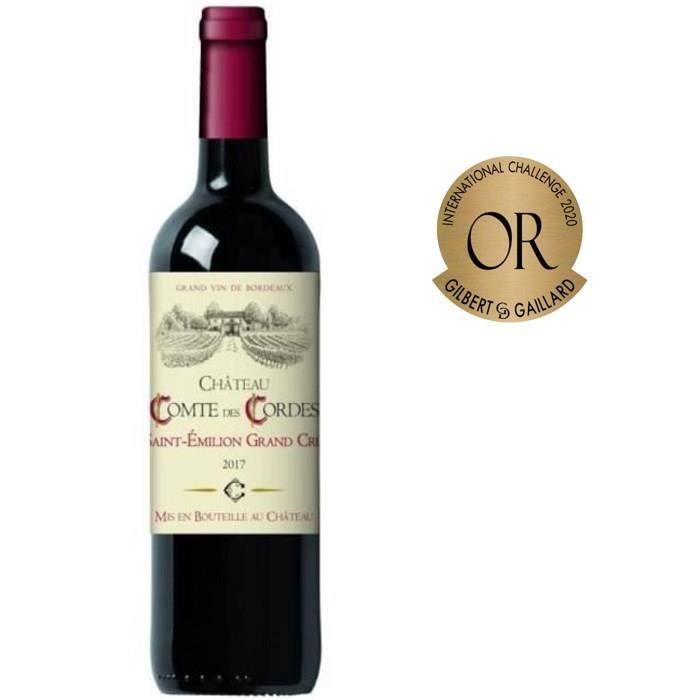 Château Comte des Cordes 2017 Saint-Emilion Grand Cru - Vin rouge de Bordeaux