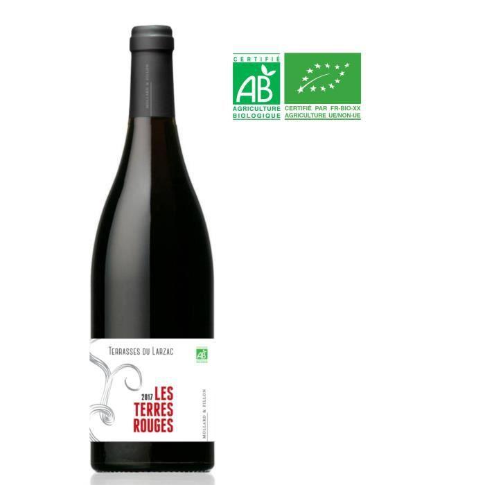 Mollard&Fillon Les Terres Rouges 2017 Terrasses du Larzac Vieilles Vignes- Vin rouge du Languedoc Roussillon - Bio