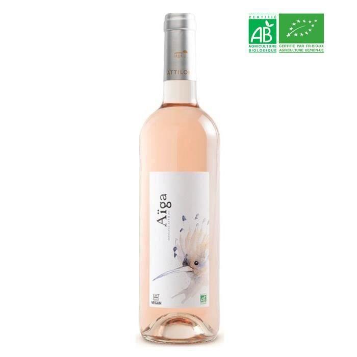Domaine Attilon Cuvée Aïga IGP Pays des Bouches du Rhône Terre de Camargue - Vin rosé