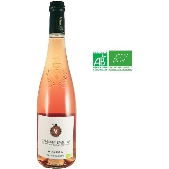 Vignoble des Bastais 2019 Cabernet d'Anjou - Vin rosé du Val de Loire - Bio