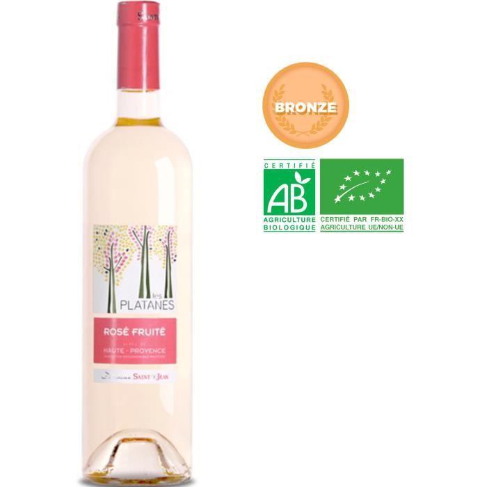 Château Saint Jean Les Platanes 2019 Alpes de Haute-Provence - Vin rosé de Provence - Bio
