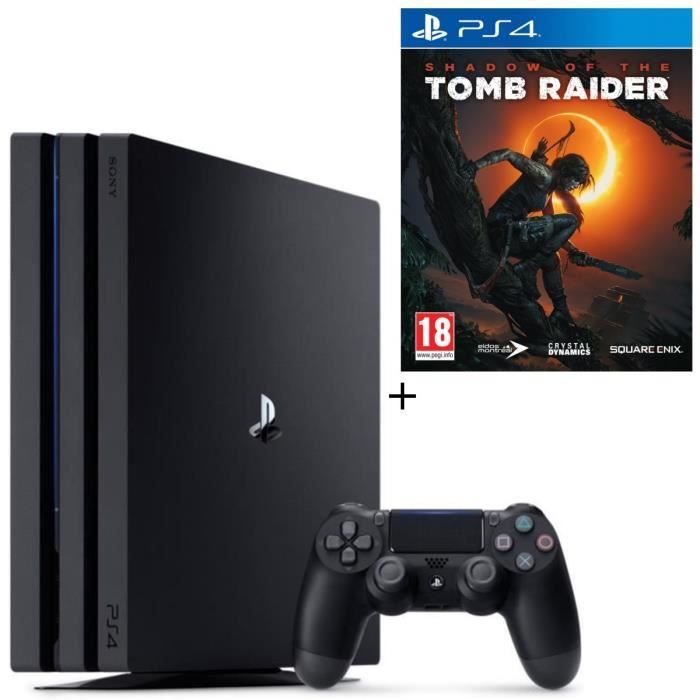 Pack PS4 Pro 1 To Noire + Shadow of the Tomb Raider