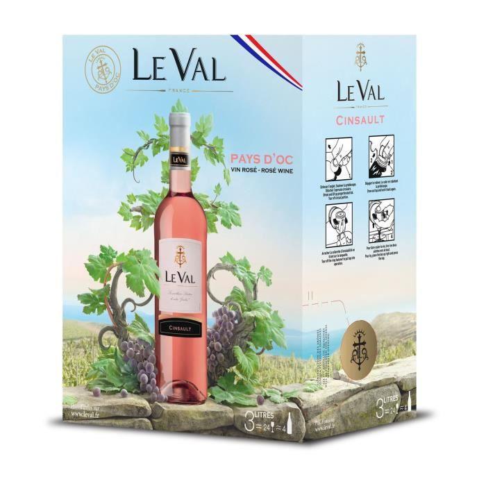 Le Val Cinsault IGP Pays d'Oc - Vin rosé de Languedoc - Bib 3 L