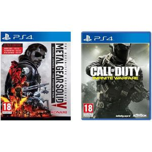 Pack de 2 jeux PS4 : MGS V + Call Of Duty : Infinite Warfare