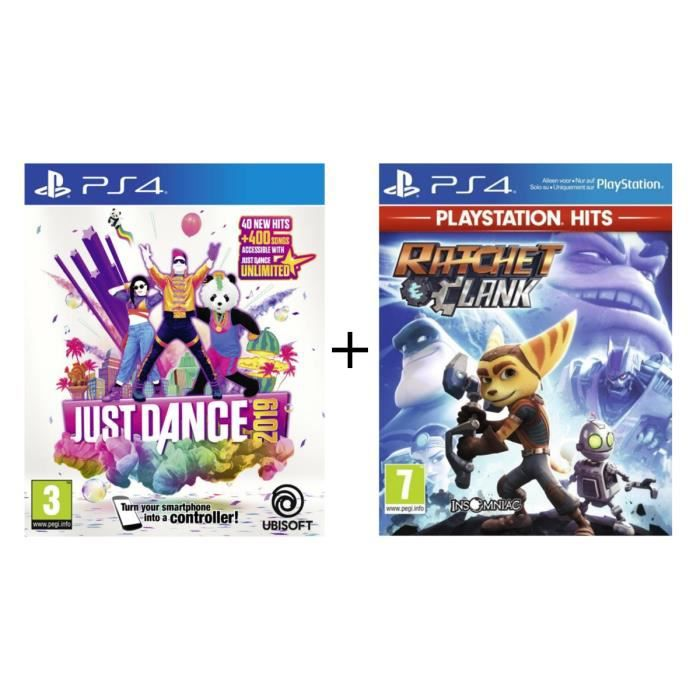 Pack 2 jeux Kids PS4 : Just Dance 2019 + Ratchet & Clank PlayStation Hits