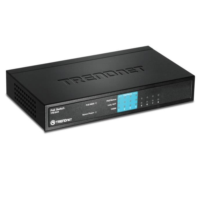TRENDnet TPE-S44 - Switch 8 ports Ethernet 4+4 PoE