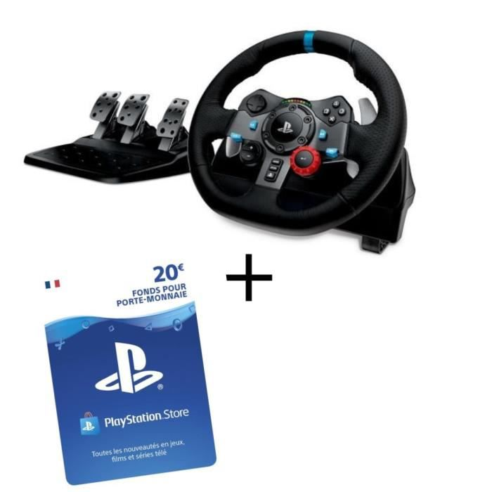 Volant G29 PS4 et PC + Playstation Network Live Card 20 € PS4 - PS3 - PS VITA