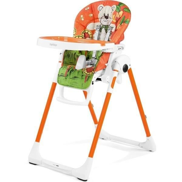 PEG PEREGO Chaise Haute Zero3 - Coloris Orange à Motif