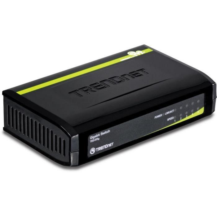 Trendnet switch 5 ports Gigabit TEG-S5g
