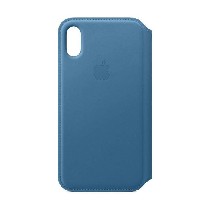 iPhone XS Housse en cuir - Bleu Cape Cod