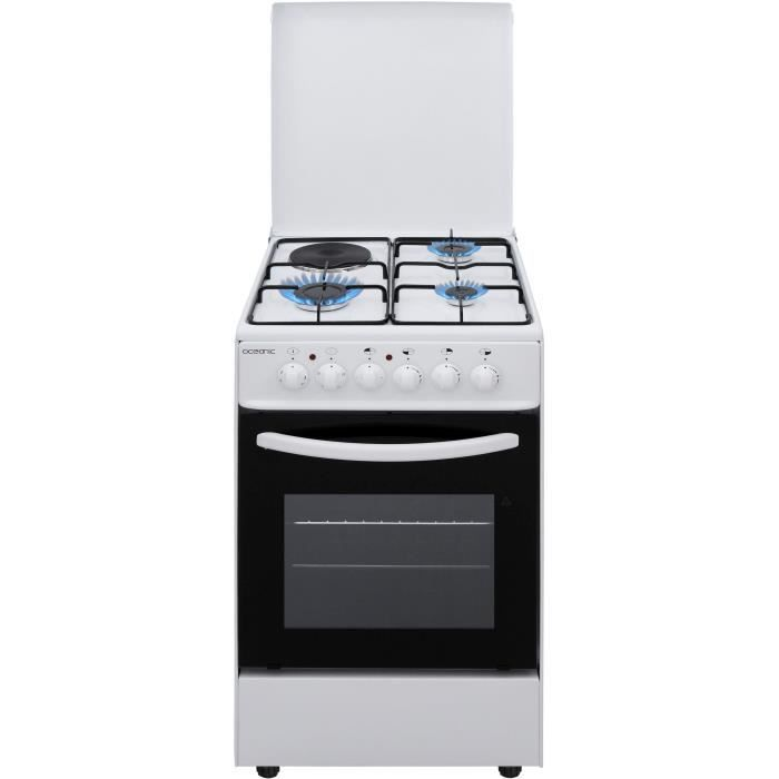 OCEANIC - Cuisinière table mixte gaz / électrique - Blanc
