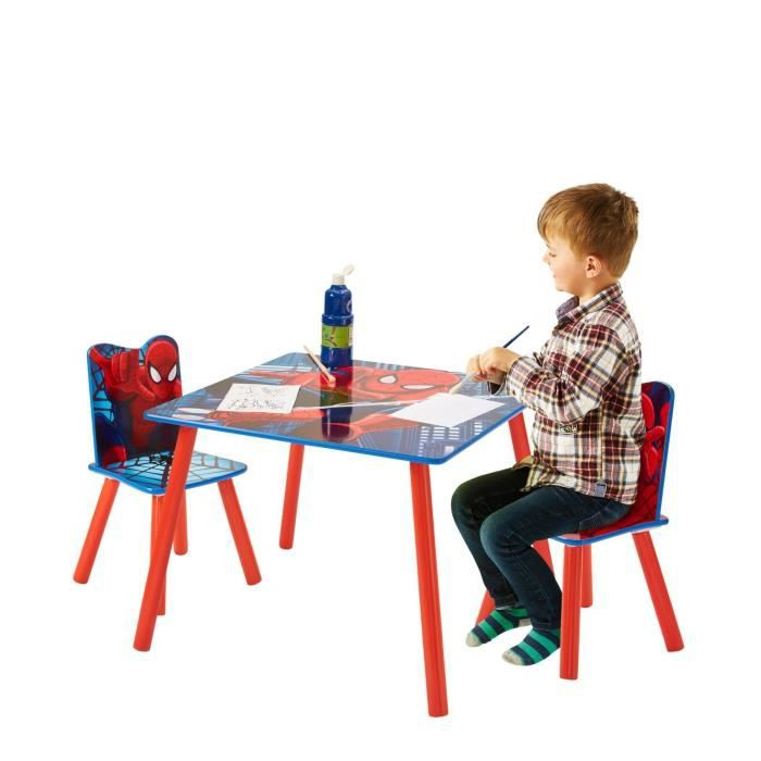 SPIDERMAN Ensemble Table Et 2 Chaises