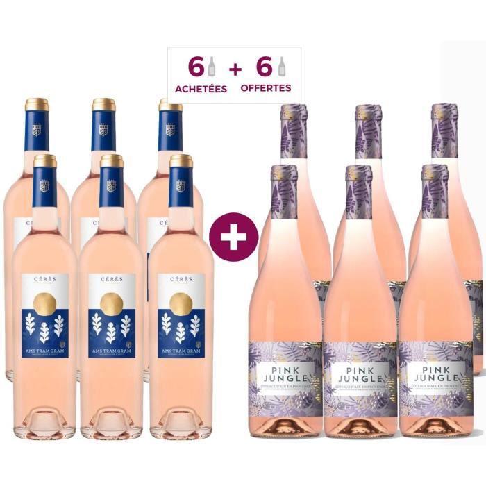 6 Ams Tram Gram Cuvée Cérés 2018 Languedoc ACHETEES + 6 Pink Jungle 2018 Coteaux d'Aix en Provence OFFERTES - Vin rosé