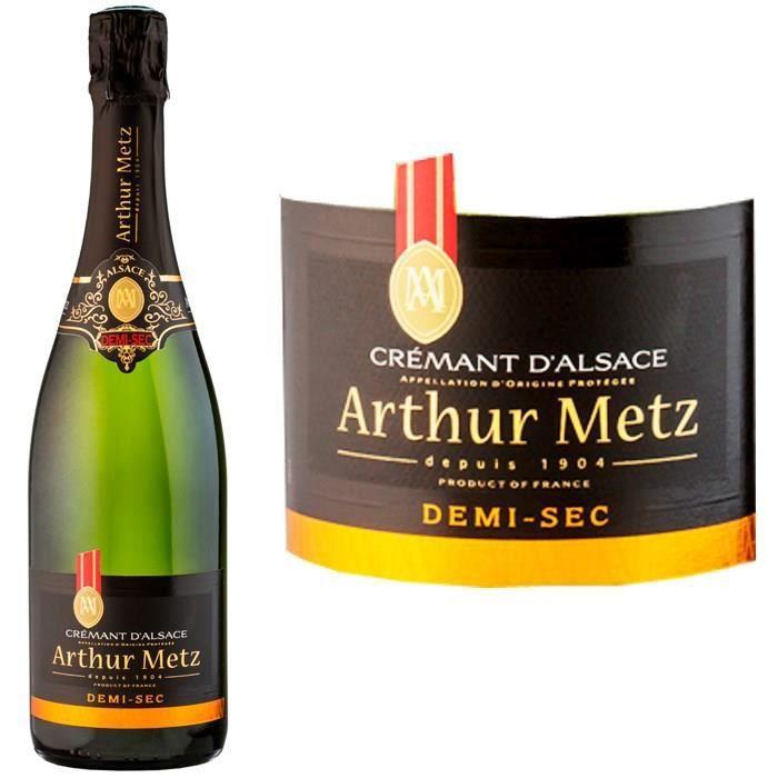 Arthur Metz demi-sec - Crémant d'Alsace
