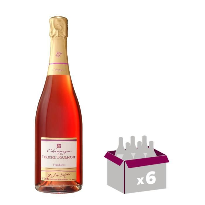 LERICHE TOURNANT Champagne - Brut - Rosé - 75 cl x 6