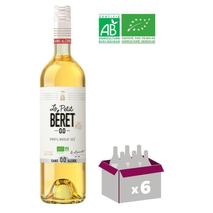 LE PETIT BERET Blanc Sec Boisson sans Alcool à base de Raisin 0,0%