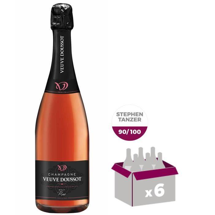 Champagne Veuve Doussot Rosé x6