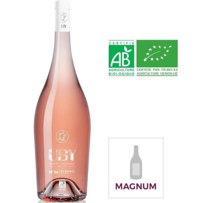 Magnum Domaine Uby Byo Côtes de Gascogne - Vin rosé du Sud - Bio