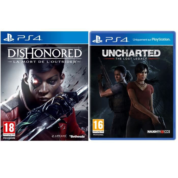 Uncharted : The Lost Legacy + Dishonored : La Mort de l'Outsider
