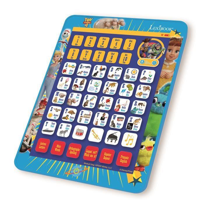 TOY STORY 4 Tablette éducative parlante bilingue (FR/EN) enfant LEXIBOOK