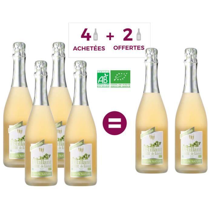 Pétillant de Listel - Raisin nature - Effervescent sans alcool - Bio - 75 cl