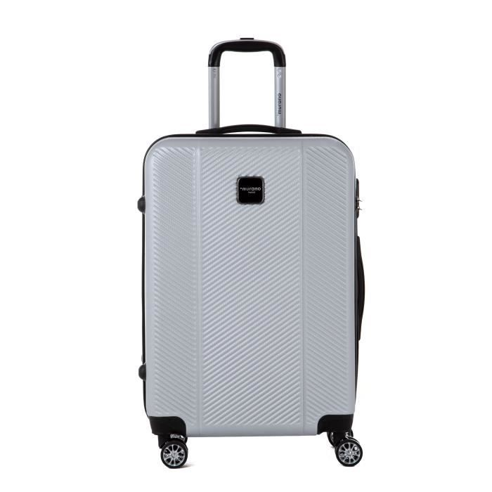 MURANO Valise week-end taille M 65cm avec 8 roues Argent