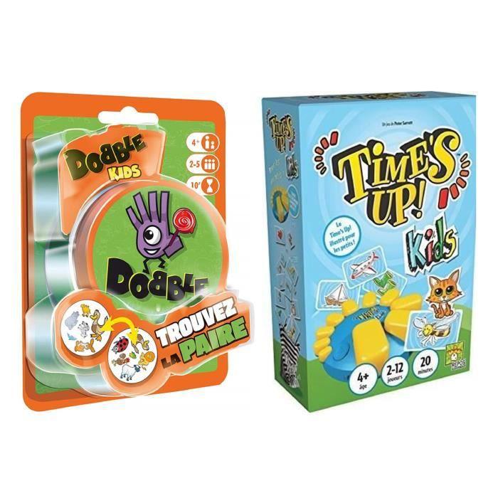 ASMODEE - Pack Dobble Kids + Time's Up Kids - Jeu de société enfant