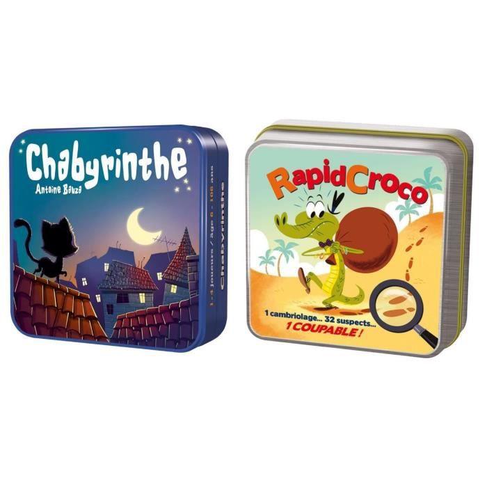 Pack Chabyrinthe + Rapidcroco - Jeu enfant 6 ans et + - ASMODEE
