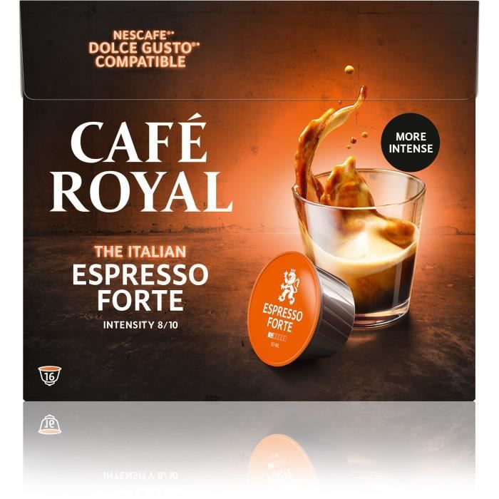 Café royal dolce gusto Espresso forte Capsules compatibles Système Dolce Gusto ®
