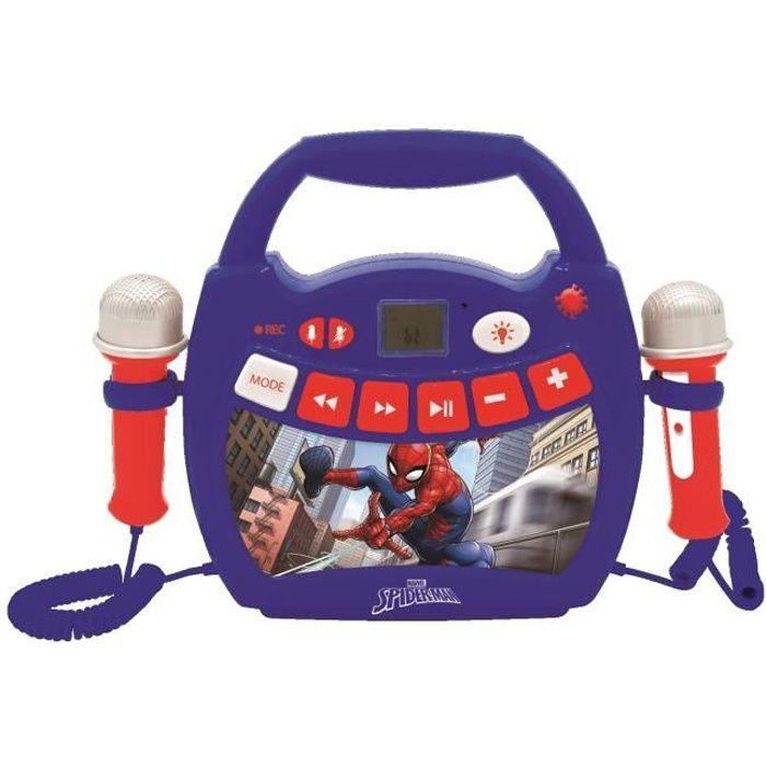 SPIDER-MAN Lecteur audio sans fil portable avec 2 micros - LEXIBOOK