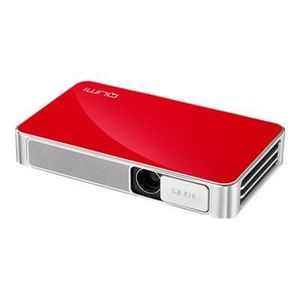VIVITEK QUMI Q3 PLUS Projecteur HD 500 Lumens Bluetooth Rouge