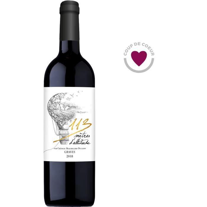 113 mètres d'altitude 2018 Graves - Vin rouge de Bordeaux