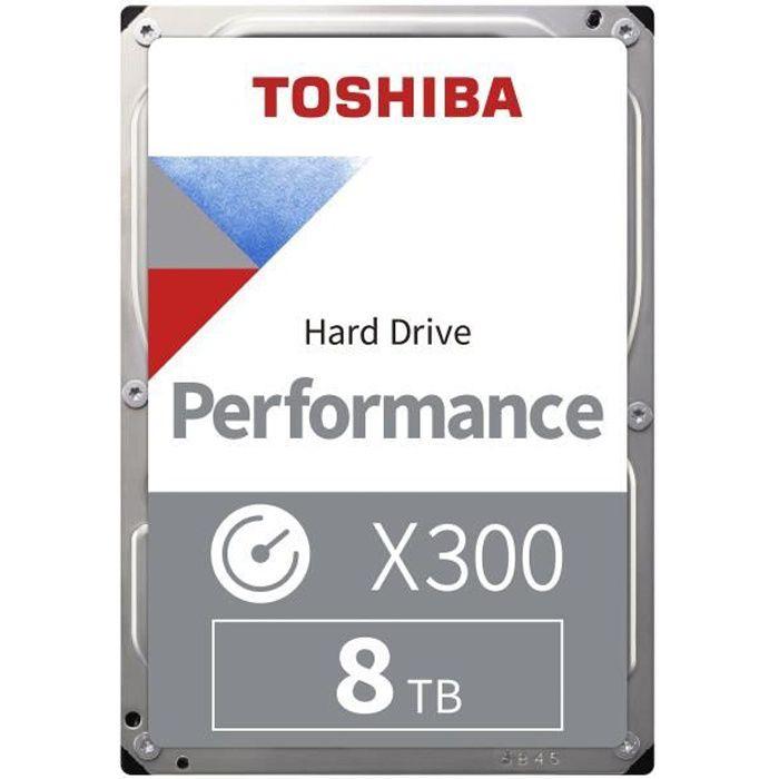 TOSHIBA - Disque dur Interne - X300 - 8To - 7 200 tr/min - 3.5- (HDWR180EZSTA)