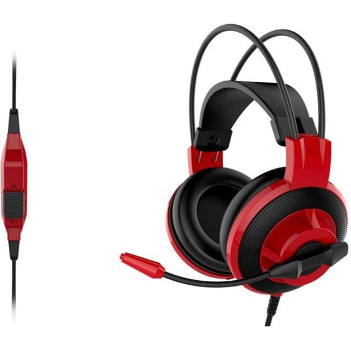 MSI Micro-Casque Gamer DS501 GAMING Filaire