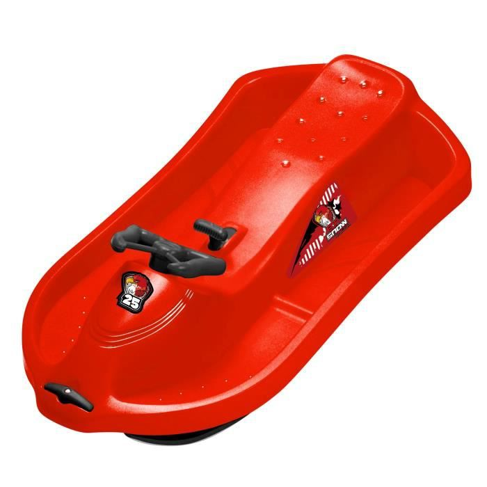 EDA Luge 1 place Snow Racer - Dimensions 101 X 55,6 X 26,5 CM - Assis surélevé - Coloris Rouge
