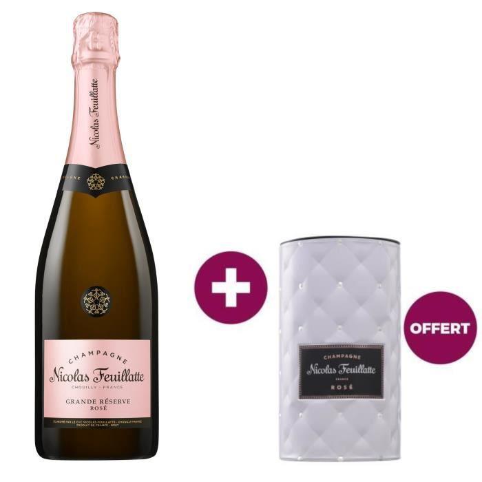 Champagne Nicolas Feuillatte Grande Réserve Rosé 75 cl = 1 rafraîchisseur offert