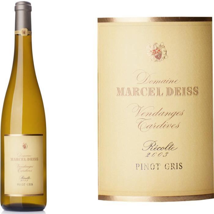 Domaine Deiss 2008 Pinot Gris Vendanges Tardives - Vin blanc d'Alsace