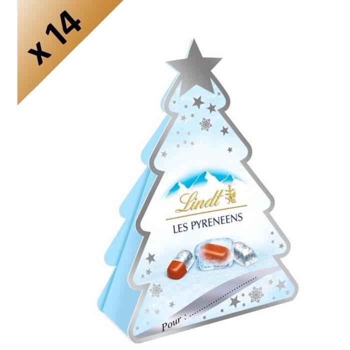 LINDT Lot de 14 Sapins Pyrénéens Lait - 37 g