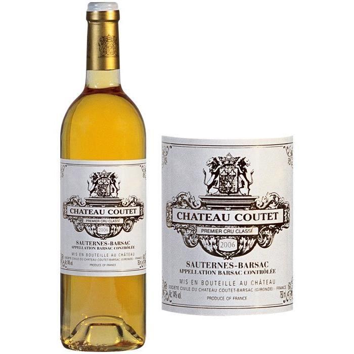 Château Coutet 2006 - Sauternes Barsac - Grand Vin de Bordeaux